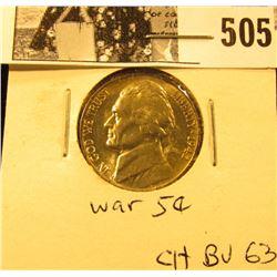 1942 P U.S. Silver War Nickel CH BU 63.