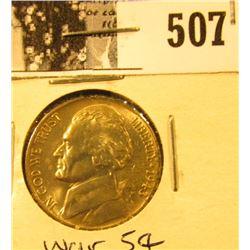1943 D U.S. Silver War Nickel CH BU 63.