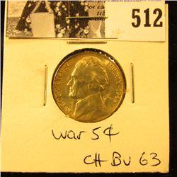 1945 D U.S. Silver War Nickel CH BU 63.