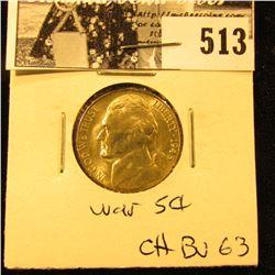 1945 S U.S. Silver War Nickel CH BU 63.