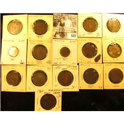 Lot of (15) Canada Maritime coppers (2) 1861 Nova Scotia Half Cents, & (4) Nova Scotia Cents, (5) 18