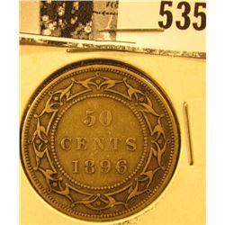 1896 Newfoundland Silver Half Dollar, Very Fine.