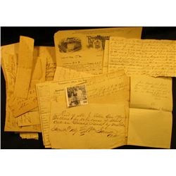 1863 Letter (damaged) September 3rd, 1863 from an Illinois Democrat, whom was against the Civil War,