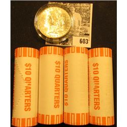(4) 2001 D Original BU Bank-wrapped Rolls of Kentucky Statehood Quarters; & 1883 O BU Morgan Silver