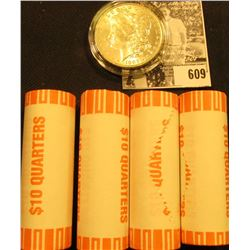(4) 2003 D Original BU Bank-wrapped Rolls of Alabama Statehood Quarters; & 1883 O BU Morgan Silver D