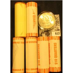 (6) 2000 D Original BU Bank-wrapped Rolls of Maryland Statehood Quarters; & 1897 P BU Morgan Silver