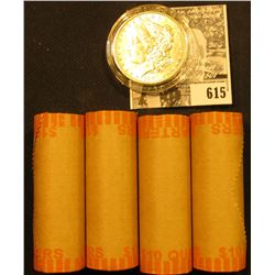 (4) 1999 D Original BU Bank-wrapped Rolls ofGeorgia Statehood Quarters; & 1901 O BU Morgan Silver Do