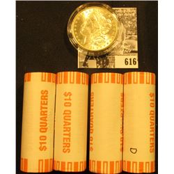 (6) 2000 D Original BU Bank-wrapped Rolls of South Carolina Statehood Quarters; & 1885 O BU Morgan S