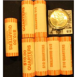 (4) 2002 D Tennessee, & (3) 2006 D South Dakota Original BU Bank-wrapped Rolls of  Statehood Quarter