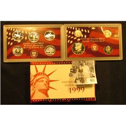 1999 S U.S. Silver Proof Set in original box with COA.