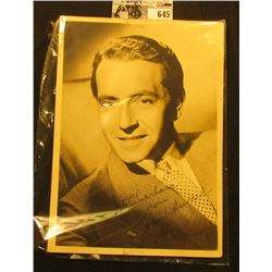 "5"" x 7"" Autographed B & W Photograph of Paul Henreid (10 January 1908 – 29 March 1992) an Austrian-b"