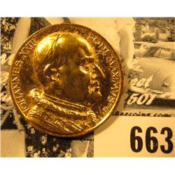 """Iohannes XXXIII Pont.Maximvs"", ""1958-1963"", Gold-colored Papal Medal, 25mm."