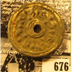 Cambodia 900-1400 A.D. Lead Coin, an interesting piece of odd and curious coinage.