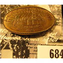 "1919 S Elongated Cent ""America's Exposition/San Diego/1935"", R-2, CAL-AE-1, originally researched an"