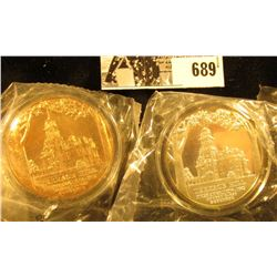 1972 Terrace Hill Preservation Medallions, .999 Fine Silver Proof & BU Bronze, both 39mm and encapsu