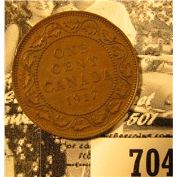 1917 Canada Large Cent, Brown AU.