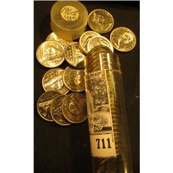 "1965 Canada Gem BU Roll of ""Beaver"" Nickels in a plastic tube. (40 pcs.)."