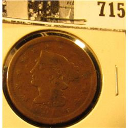 1851 U.S. Large Cent, Very Good.