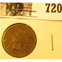1859 U.S. Indian Head Cent, Good.