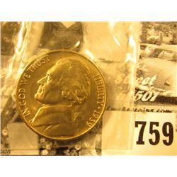 1939 D Gem BU Jefferson Nickel. At least four full steps.