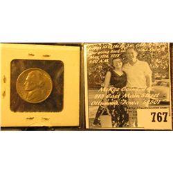 1938 D Jefferson Nickel, Brilliant Uncirculated.