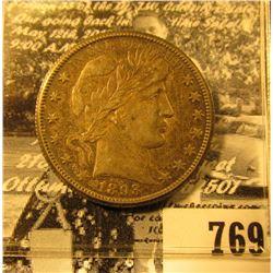 1893 O Full original toned AU U.S. Silver Barber Half-Dollar.