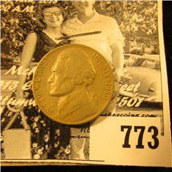 1950 D Jefferson Nickel, VF. Scarce Keydate.