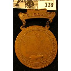 """28 Annual Encampment/Department of Iowa G.A.R. Des Moines, May 20, 21, 22, 1902."", ""Delegate"" Medal"