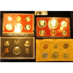 1959, 69 S, 77 S, & 80 S U.S. Proof Sets. All in original holders or envelopes.