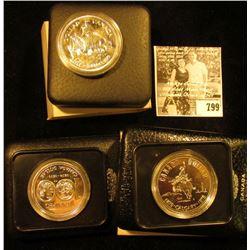 1874-1974 Canada Winnipeg, 1875-1975 Calgary Canada, & 1679-1979 Canada Griffin Commemorative Silver