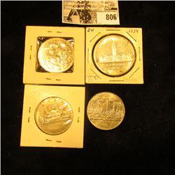 1939 Parliament Canada Silver Dollar; 1969, 1870-1970 Manitoba, & 1867-1982 Confederation Constituti