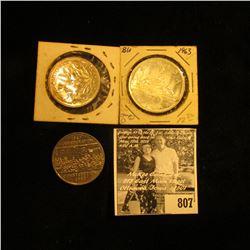 1963 Canada Silver Dollar; 1870-1970 Manitoba, & 1867-1982 Confederation Constitution Canada nickel