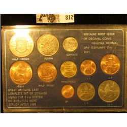 "Type Set of BU ""Britains First Issue of Decimal Coins"" & ""Great Britains Last Complete Set of Coinag"