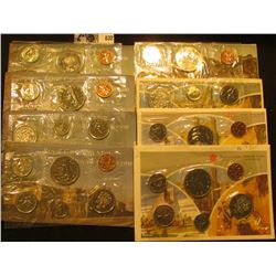 1974, 1975, 1976, 1977, 1978, 1979. 1981, & 1986 Canada Six-Piece Uncirculated Coin Sets in original