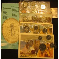 1975, 78, 79, & 86 Canada Six-Piece Uncirculated Coin Sets in original cellophane and envelopes.