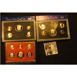 1972 S, 81 S, & 83 S U.S. Proof Sets. Original as issued.