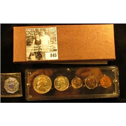 1957 U.S. Proof Set in a Seitz holder. Five Piece.