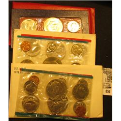 1976 P & D U.S. Mint Set, 1976 Three-Piece Silver Mint Set; & 78 U.S. Mint Sets. All original as iss