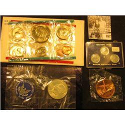 "1971 S Eisenhower Silver Dollar in original blue pack, BU; ""Enduring Friendship1782/1982/Netherlands"
