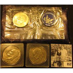 1971 S BU Silver in original envelope of issue & 1978 P, D Eisenhower Dollars.