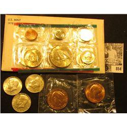 (2) Ronald Reagan U.S. Mint Medals in original cellophane; 1966P, 67P, & 68D 40% Silver Kennedy Half