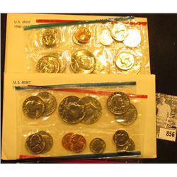 1980 & 81 U.S. Mint Sets. Original as issued.