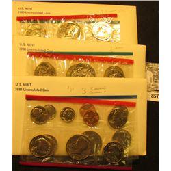 (2) 1980 & 81 U.S. Mint Sets. Original as issued.