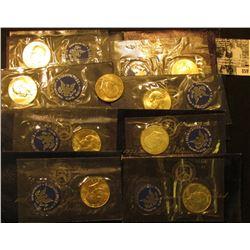 (3) 1971 S & (5) 1972 S Eisenhower Silver Dollars, all BU in original blue packs of issue.