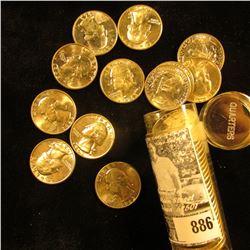 (12) 1957 D & (28) 63 D BU Silver Washington Quarters in a plastic tube.