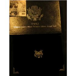 1992 S U.S. Premier Silver Proof Set. Original as issued.