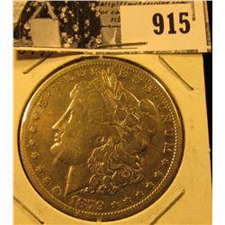 1879 CC U.S. Morgan Silver Dollar, Fine.