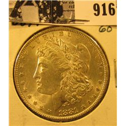 1881 P U.S. Morgan Silver Dollar, Unc.