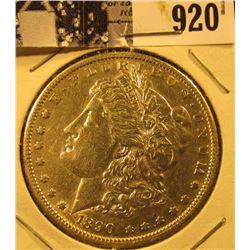 1890 S U.S. Morgan Silver Dollar, EF.