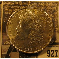 1887 P U.S. Morgan Silver Dollar, Brilliant Uncirculated.